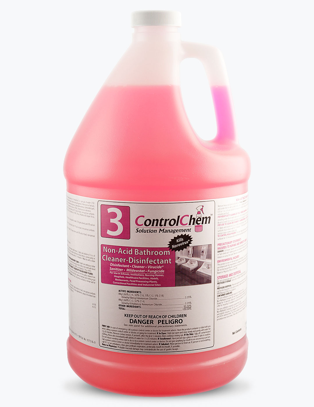 ControlChem #3 Non-Acid Bathroom Cleaner-Disinfectant