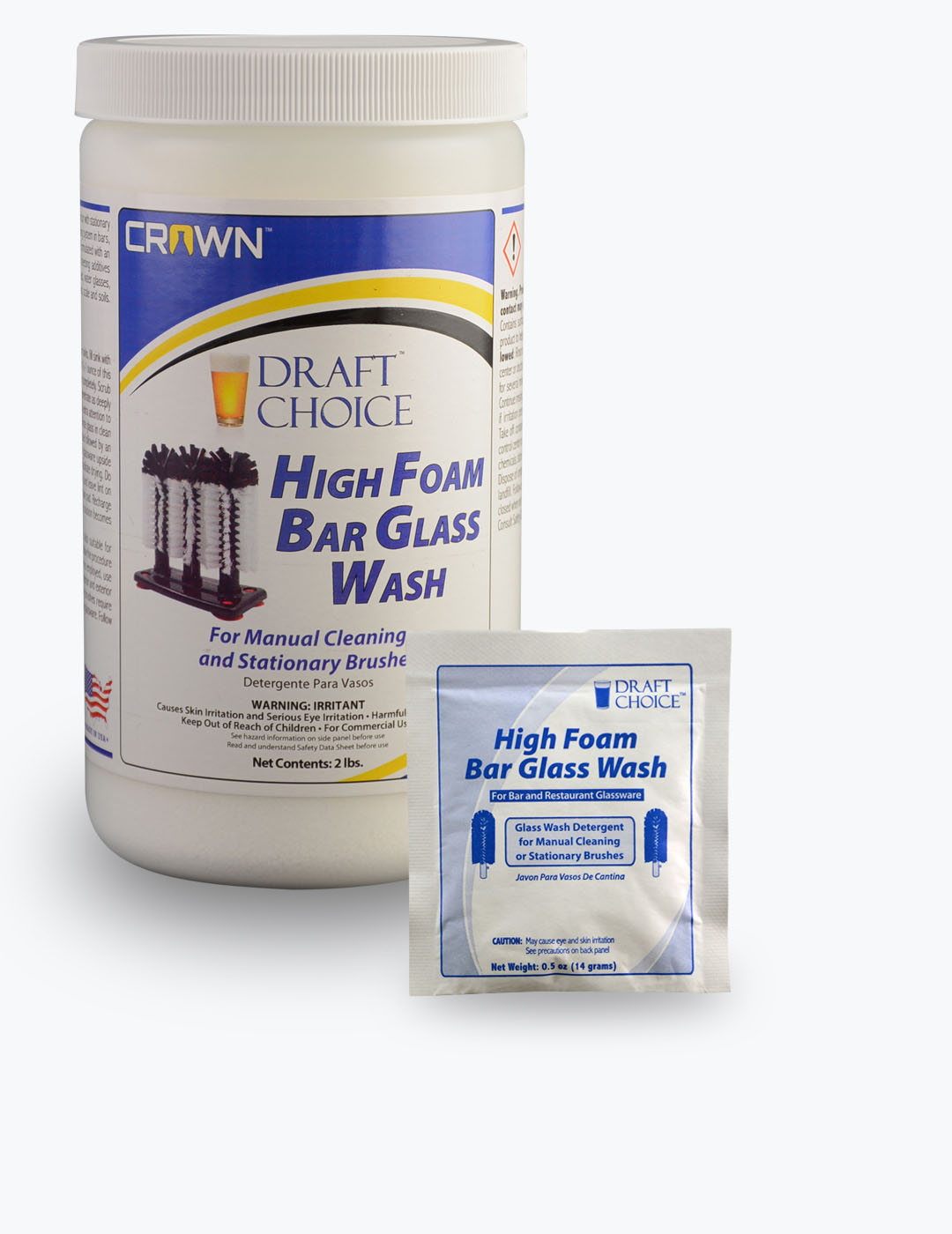 High Foam Bar Glass Wash