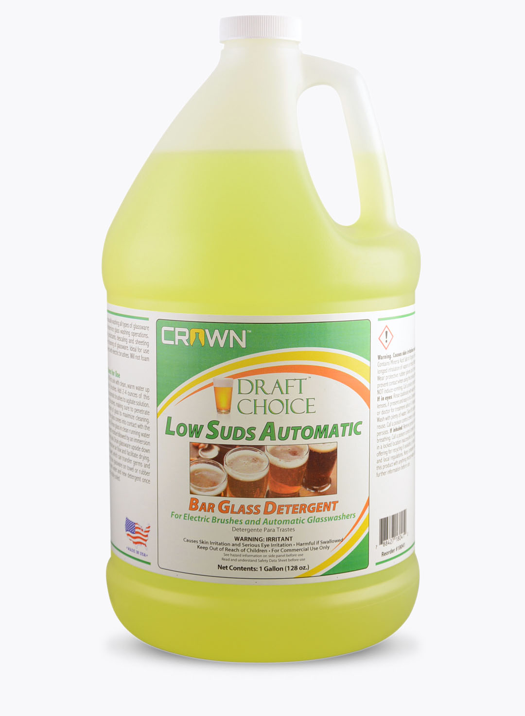 Low Suds Automatic Bar Glass Wash
